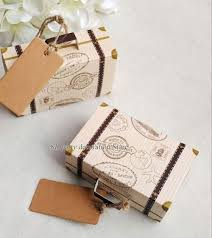 Suitcase Favors by 100pcs Vintage Suitcase Favor Box Wedding Boxes Gift