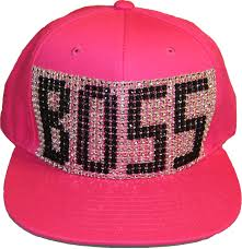 Fashion Design Home Business by Boss Hat Pink With Bling Lettering By Ladybosslifestyle