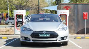 tesla outside tesla u0027s first australian inter city supercharger is open in