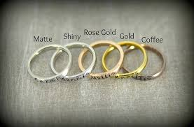 engraved stackable mothers rings personalized stackable name ring stacking rings