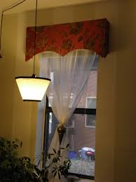 cheap and easy fabric covered window cornice with pictures