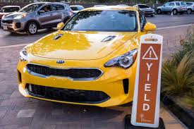 cars characters yellow 2018 kia stinger and stinger gt first drive news cars com