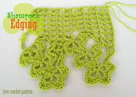 free crochet pattern shamrock edging