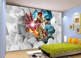 marvel bedroom awesome boys room kids bedroom 3d iron man wallpaper custom waterproof photo wallpaper marvel hero