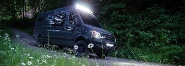 4x4 Led Light Bars by High Output Led Light Bars Outside Van