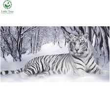 online get cheap snow white animators aliexpress com alibaba group winter snow white tiger animal full whole resin square diamond painting mosaic rhinestones pattern kit needlework wall stickers