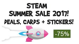 summer sale steam summer sale 2017 deals cards badge stickers dates