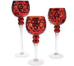 halloween goblets set of 3 honeycomb glass goblets with tealights by valerie page