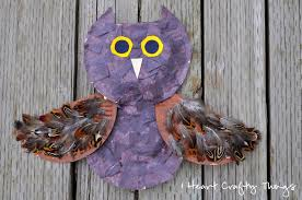 a textured owl craft i heart crafty things