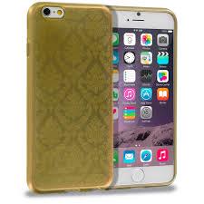 gold tpu damask designer luxury rubber skin case cover for apple
