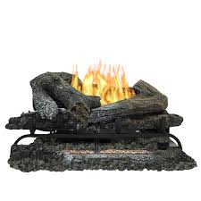 Fireplace Gas Log Sets by Shop Pleasant Hearth 24 In 33 000 Btu Triple Burner Vent Free Gas