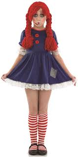 doll halloween costume girls scary rag doll fancy dress costume fancy me limited