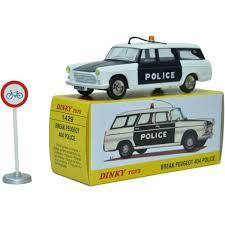 police car toy dinky toys 1 43 scale atlas miniatures 1429 break peugeot 404