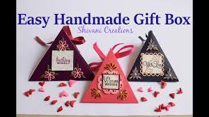 easy handmade gift box how to make gift box diy chocolate box