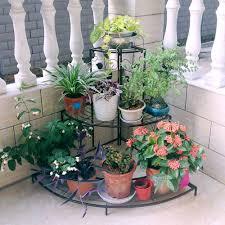 metal outdoor indoor pot plants stand garden decor flower rack