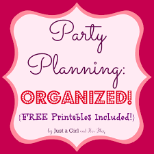 party menu planner template party planning organized free printables included
