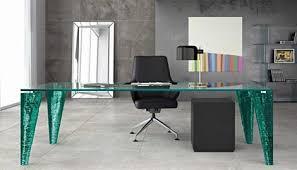 Office Glass Desk Rectangular Glass Table For Modern Office Living Or Dining Room