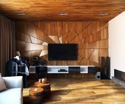 Wall Decor Interior Design Ideas - Wood living room design