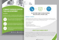 one page brochure template one page brochure template the best templates collection