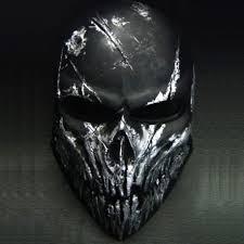airsoft mask skull black