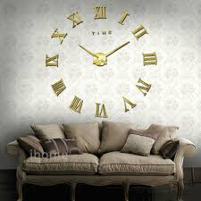 Large Mirrored Wall Clock Aliexpress Com Buy Living Room Wall Clock Diy Large Quartz