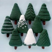 nine different christmas trees which can be left as they are or