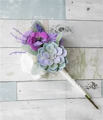 succulent bouquet purple succulent anemone and roses real touch flowers bouquet