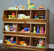 Build Wooden Toy Boxes by Ana White 1x12 Wood Bulk Bins Diy Projects