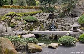 japanese gardens waterfalls