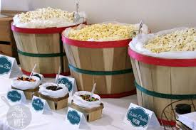 Popcorn Baskets Easy Diy Popcorn Bar Big Bear U0027s Wife