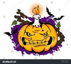 halloween pumpkin cartoons angry halloween pumpkin cartoon style vector stock vector
