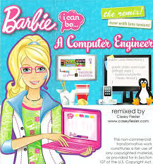 barbie computer engineer terrible book remixed