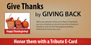 thanksgiving e card st s food bank
