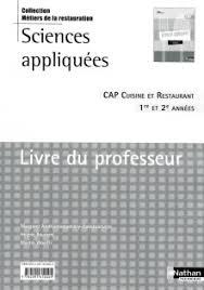 sciences appliqu馥s cap cuisine sciences appliqu馥s cap cuisine 28 images sciences appliqu 233