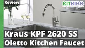 review kraus kpf 2620ss modern oletto kitchen faucet youtube