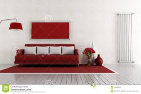 red and white living room stock photos image 23802393