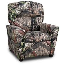 kids recliner with cup holder mossy oak country mossy oak