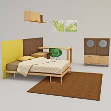Furniture Kids Bedroom Bedroom Furniture 3d Model
