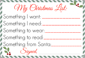 santa gift list my christmas list printable chockababy