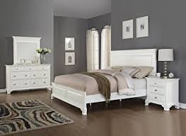 Bedroom Furniture Dresser Roundhill Furniture Laveno 012 White Wood Bedroom