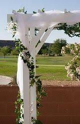 Wedding Arch Decoration Ideas Wedding Arch Decorations Ideas White Lattice Arch Shown In