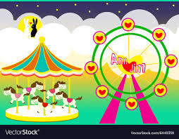 wedding backdrop design vector amusement park wedding backdrop royalty free vector image