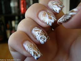nail designs gold and white nail art designs