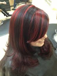 chunking highlights dark hair pictures best 25 black hair red highlights ideas on pinterest red black