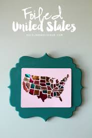 484 best silhouette projects images on pinterest silhouette diy foiled united states map