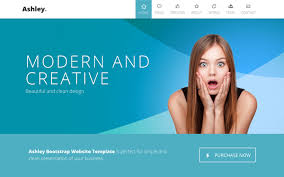 bootstrap themes free parallax ashley one page parallax wrapbootstrap