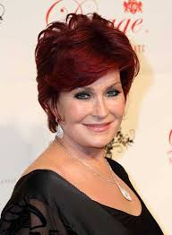 back view of sharon osbourne haircut short layered hairstyles for round faces beauty riot