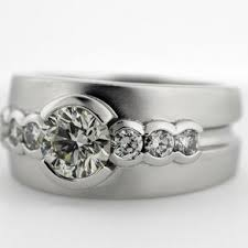 Ring With Initials Handmade White Gold Or Platinum Sapphire Men U0027s Ring With Initials