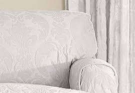 Sure Fit White Sofa Slipcover Sure Fit Matelasse Damask One Piece T Cushion Sofa Slipcover Color