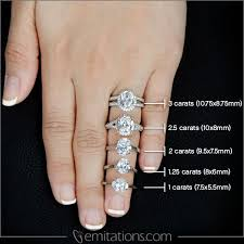 oval cut diamond 13 best carat comparison images on diamond sizes
